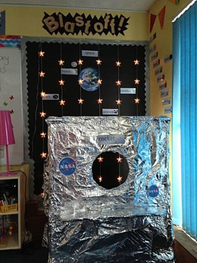 Space Blast Off Rocket Nasa Earth Display Classroom Display