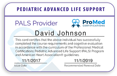 Promed Certifications Pals Practice Test
