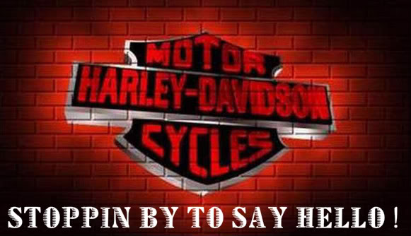 Stoppin By To Say Hello Harley Davidson Bikers Graphics