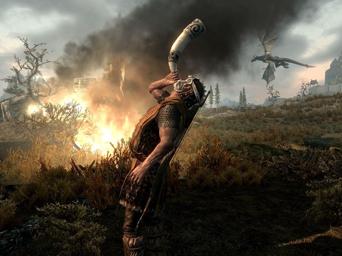 Image result for skyrim dragon rising