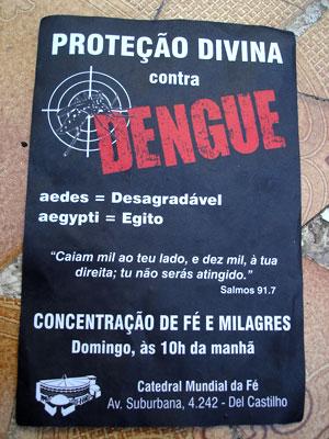 As igrejas evangélicas, na falta de saúde pública na região, também curam os enfermos.