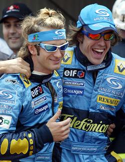 Alonso e Trulli em 2004