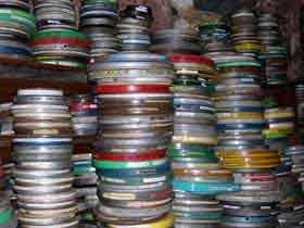 Craig Baldwin's 16mm film archive (by Lynne Sachs)