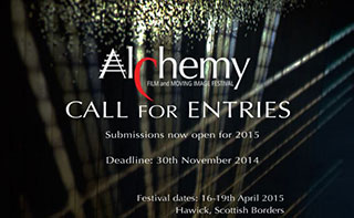 Abstract logo for Alchemy Film and Moving Image Festival