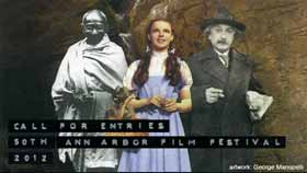 Image collage of Gandhi, Judy Garland as Dorothy and Einstein