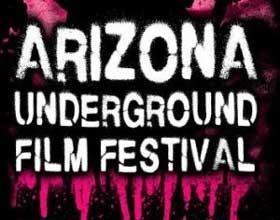 Text logo for Arizona Underground Film Festival