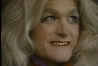 Groovin' Gary made up as Olivia Newton John