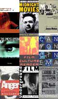 Montage of book covers about avant-garde, experimental and underground film