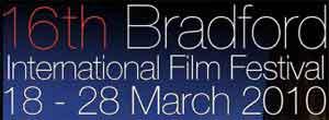 Text logo for Bradford International Film Festival