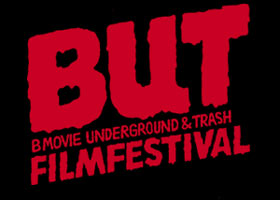 Text logo for B-Movie Underground and Trash Film Festival