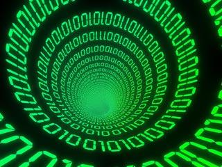 Swirling binary code