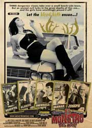 Movie poster featuring a sexy woman lying on a car's hood