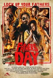 Father's Day horror movie poster featuring painted illustrations of the cast