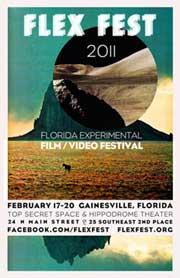 Film festival poster featuring an abstract desert landscape