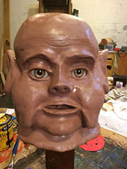 Head of a goblin puppet