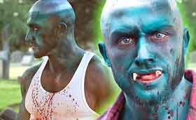 Blue skinned zombies