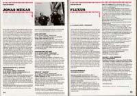 Film festival program scan featuring work of Jonas Mekas