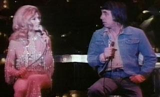 Nancy Sinatra and Lee Hazelwood on stage in Las Vegas