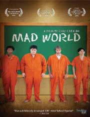 Movie poster featuring male teenagers in orange prison jumpsuits