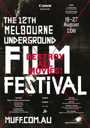 12th annual Melbourne Underground Film Festival poster