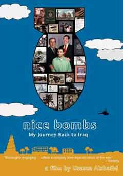 Nice Bombs movie poster with film stills arranged to look like a falling bomb