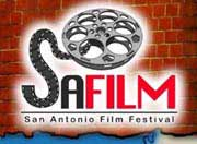Film festival logo featuring a drawing of a movie reel