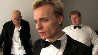 Filmmaker Christophe Lamot wearing a tuxedo