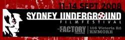Sydney Underground Film Festival logo featuring a scene from Un Chien Andalou