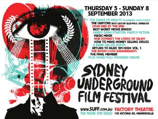 Poster for 7th annual Sydney Underground Film Festival