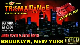 New York City skyline logo for TromaDance Film Festival