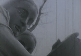 Close-up of a female statue in still from Paul Sharits' Wintercourse