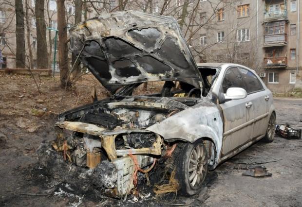 Ранее был сожжен автомобиль активиста Евромайдана в Харькове