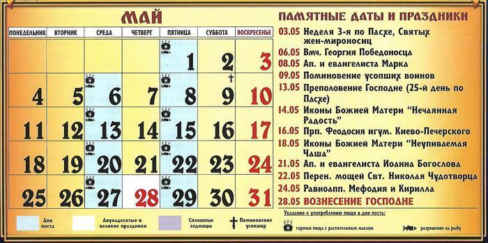 Церковні свята в травні / vedmochka.net
