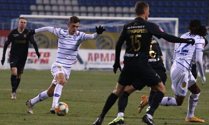 Динамо Киев потеряло очки в матче против Колоса/ фото УПЛ