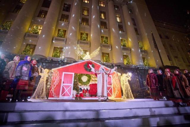 Відкриття ялинки біля ОПУ / фото president.gov.ua