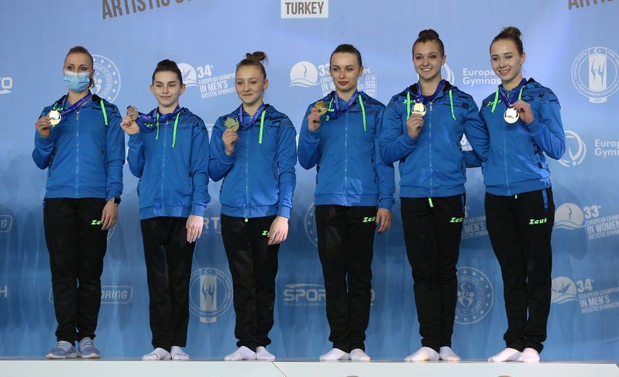 Украинские гимнастки - чемпионки Европы / facebook.com/EuropeanGymnastics