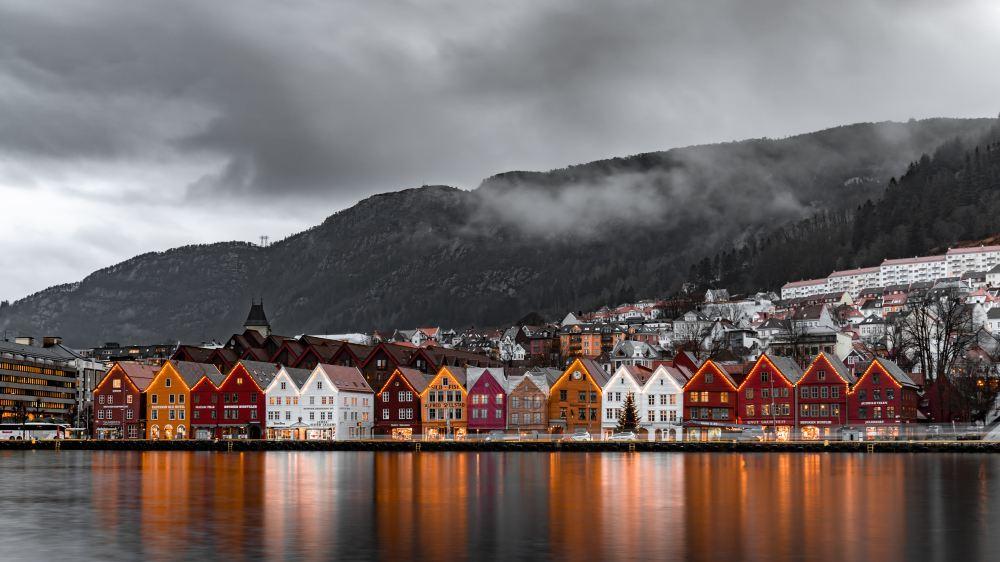 Bergen Norway Northern Lights