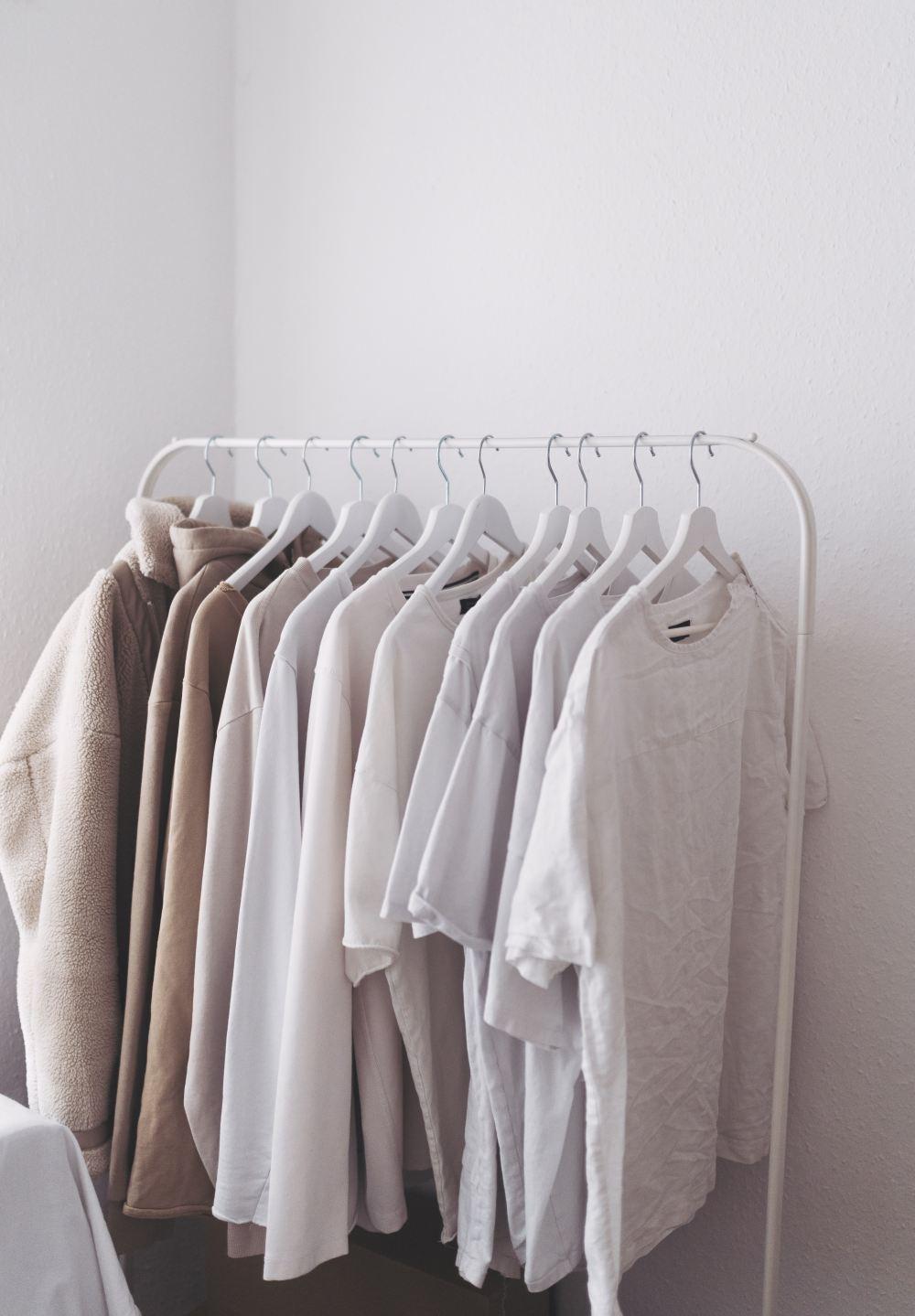 white clothes hanger