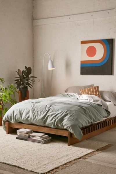 Sarah Slatted Platform Bed Urban Outfitters
