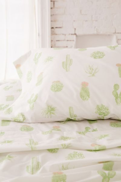 Cactus Sheet Set Urban Outfitters