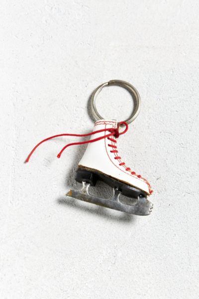 porte cles patin a glace vintage