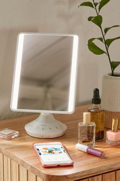 miroir de vanite avec haut parleur ihome