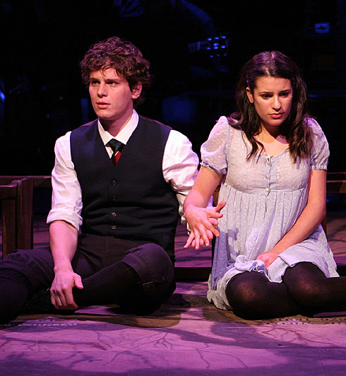 Jonathan Groff and Lea Michele in Spring Awakening -- Image via USA Today