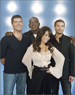 Simon Cowell, Randy Jackson, Paula Abdul and Ryan Seacrest come back for more Idol on Tuesday.