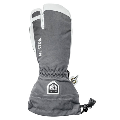 Hestra 3 Finger Glove Grey 10