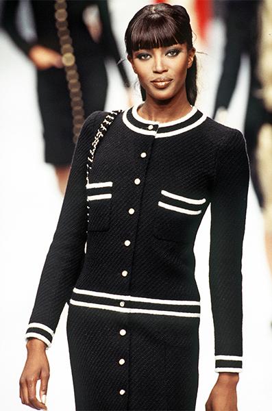 moda look profili a contrasto chanel