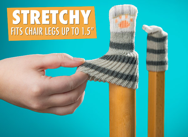 Stretchy to fit chair legs up to 1.5