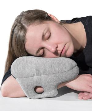 the ostrich pillow mini ultra compact power nap pillow