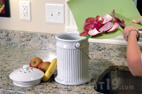 ceramic kitchen compost pail easy countertop composting crock stainless steel compost pail