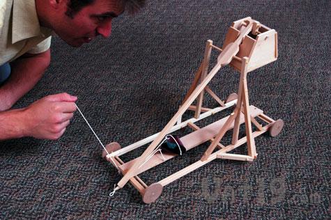 Working Wood Trebuchet Kit Build Your Very Own Working